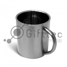 Кружка металлическая СЕРЕБРО большая h=9см, d=7.6см, 300мл для сублимации