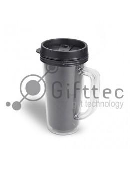 Термокружка пластиковая для полиграфической вставки, 450 мл