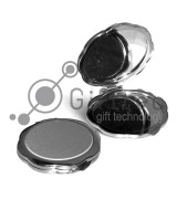 Зеркальце металлическое круглое d=72мм для сублимации