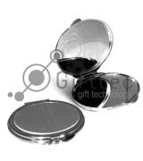 Зеркальце макияжное металлическое овальное 72х63х8мм для сублимации