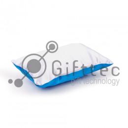 Подушка с наволочкой СИНЯЯ (поле под сублимацию 40х25см)