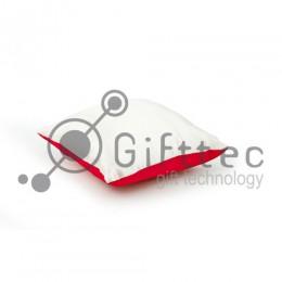 Подушка с наволочкой КРАСНАЯ (поле под сублимацию 25х25см)