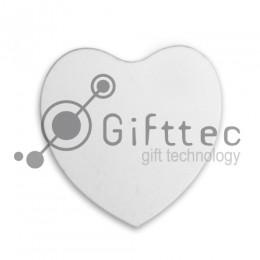 Магнит на холодильник деревянный в форме сердца 95х95x5мм для сублимации