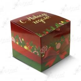"""Коробка подарочная для кружки без окна """"С Новым Годом"""""""