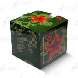 """Коробка подарочная для кружки без окна """"Милитари"""""""